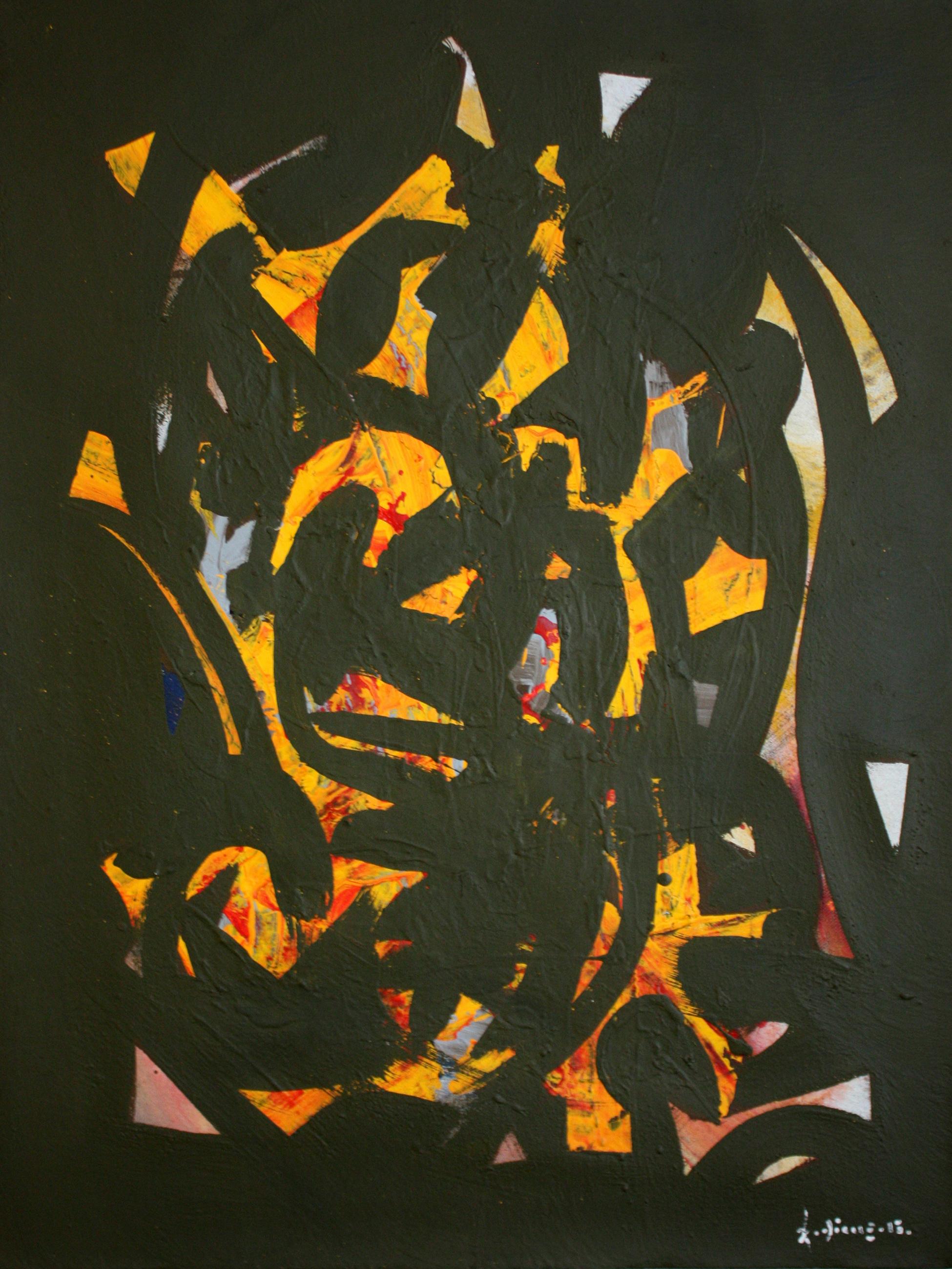 amadou-dieng_tableau-vert_art_contemporain_afrique